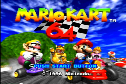 mario kart 64 home screen